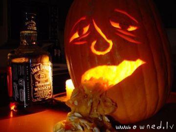 Hangover pumpkin