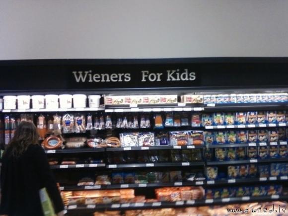 Wieners for kids