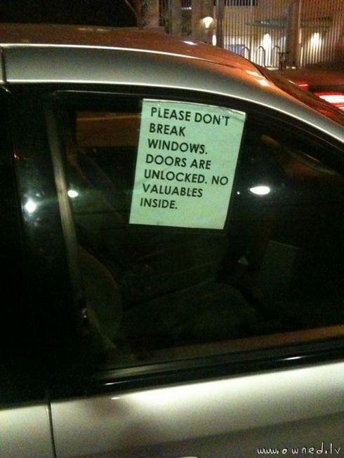 Please dont break windows