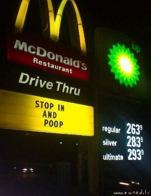 Stop in and poop