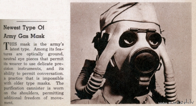 Funny army gas mask