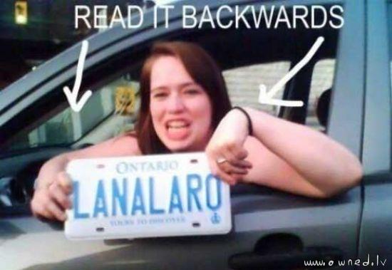 Read it backwards