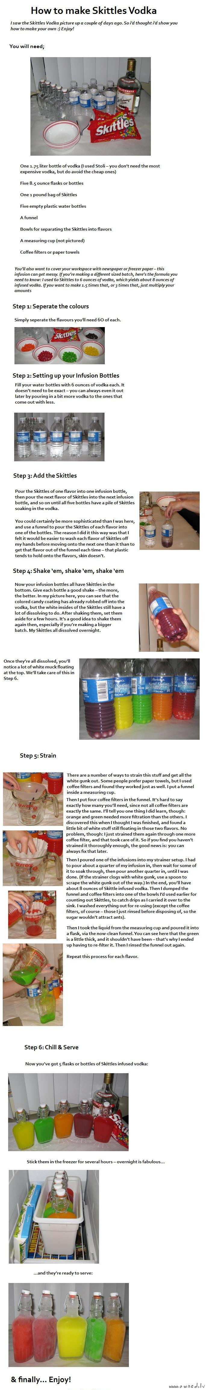 How to make skittles vodka