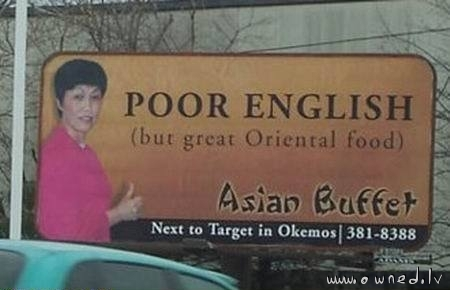 But great oriental food