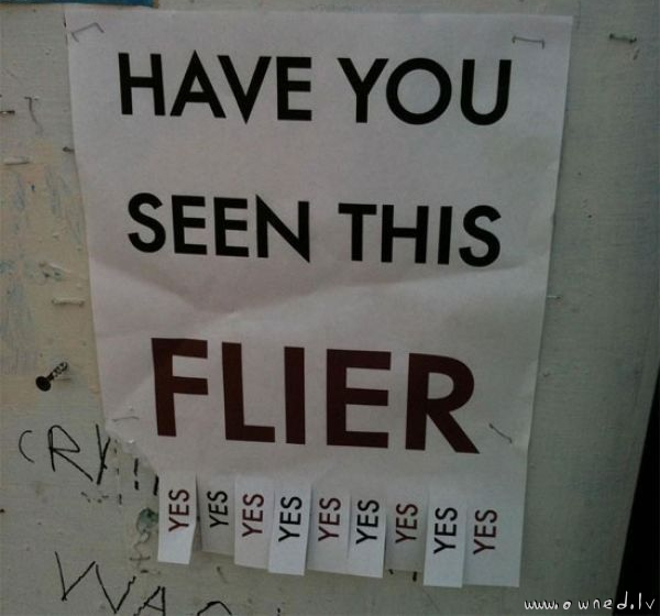 Have you seen this flier ?