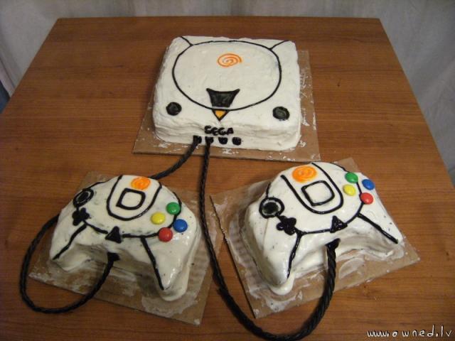 Dreamcast cake