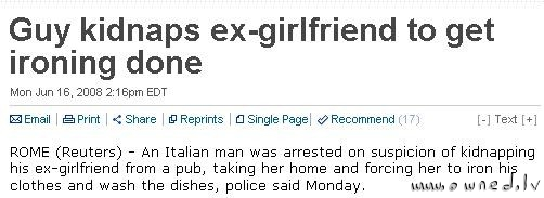 Guy kidnaps his ex