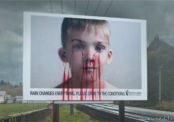 Scary warning poster