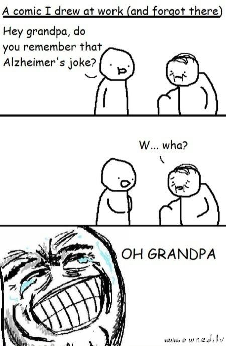 Alzheimer joke