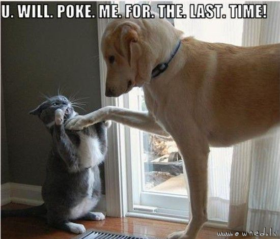 You will poke me for the last time !