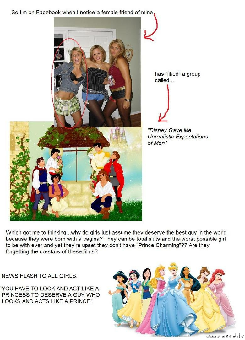 Disney gave me unrealistic expectation of men