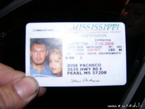 Strange drivers license