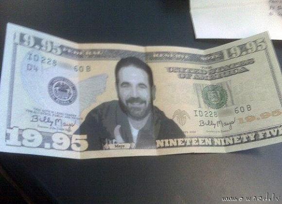 19.95 dollar bill