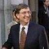 Bill Gates enjoying a little cake